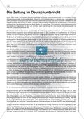 Zeitungswerkstatt: Die Zeitung im Deutschunterricht Preview 1