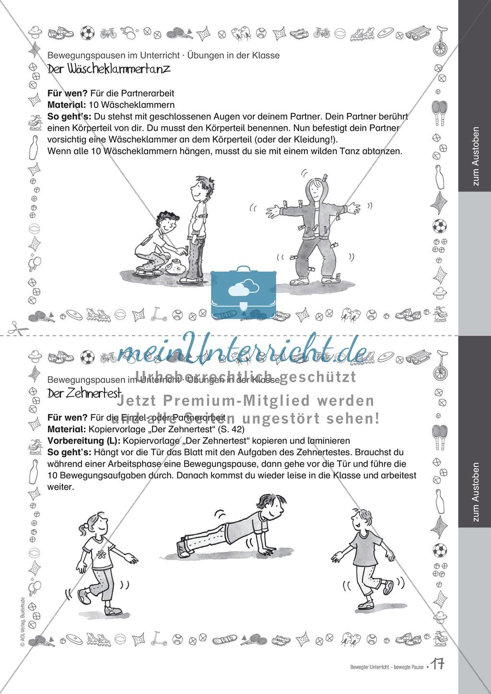 Übungen und Spiele für eine bewegte Grundschule: Material komplett Preview 12