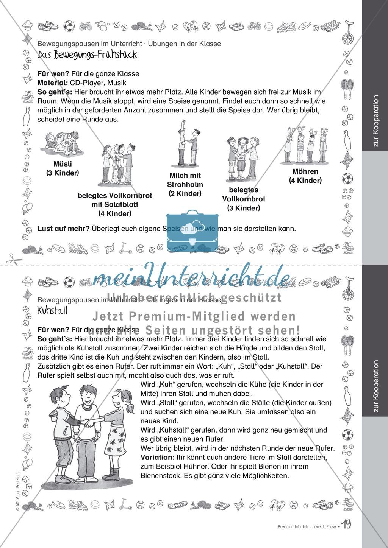Übungen und Spiele für eine bewegte Grundschule: Material komplett Preview 14