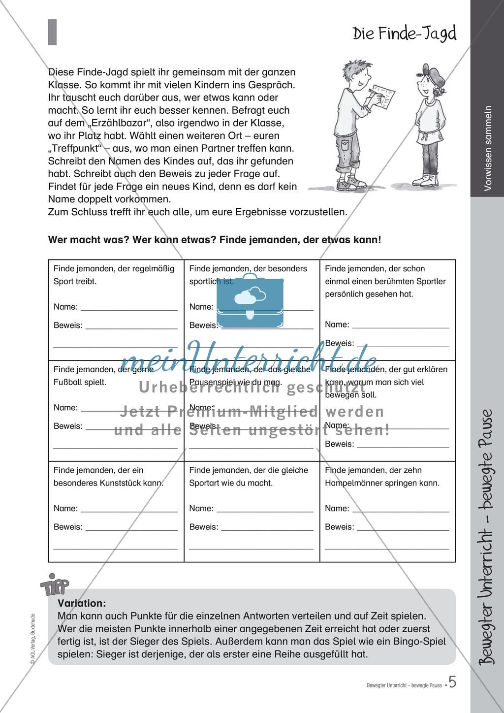 Übungen und Spiele für eine bewegte Grundschule: Material komplett Preview 0