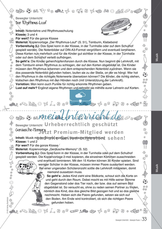 Übungen und Spiele für eine bewegte Grundschule: Material komplett Preview 28
