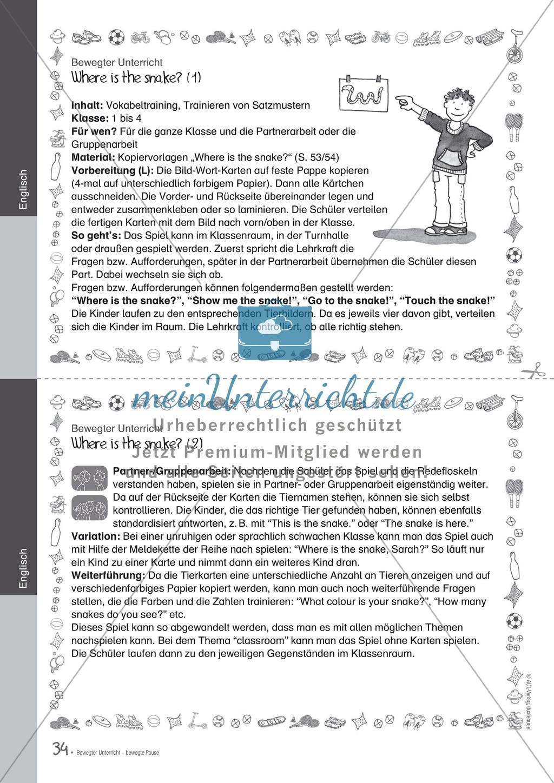 Übungen und Spiele für eine bewegte Grundschule: Material komplett Preview 29