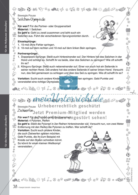 Übungen und Spiele für eine bewegte Grundschule: Material komplett Preview 33