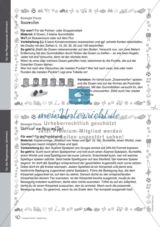 Übungen und Spiele für eine bewegte Grundschule: Material komplett Preview 35