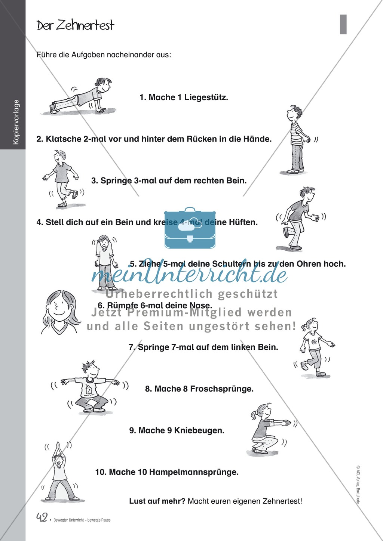 Übungen und Spiele für eine bewegte Grundschule: Material komplett Preview 37