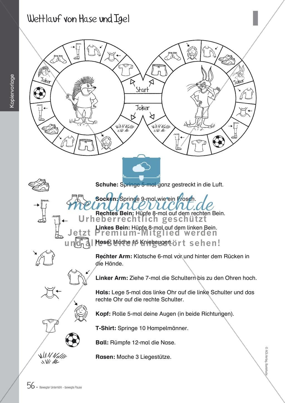 Übungen und Spiele für eine bewegte Grundschule: Material komplett Preview 51