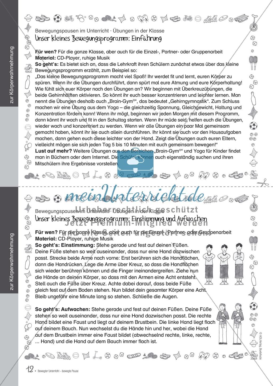 Übungen und Spiele für eine bewegte Grundschule: Material komplett Preview 7