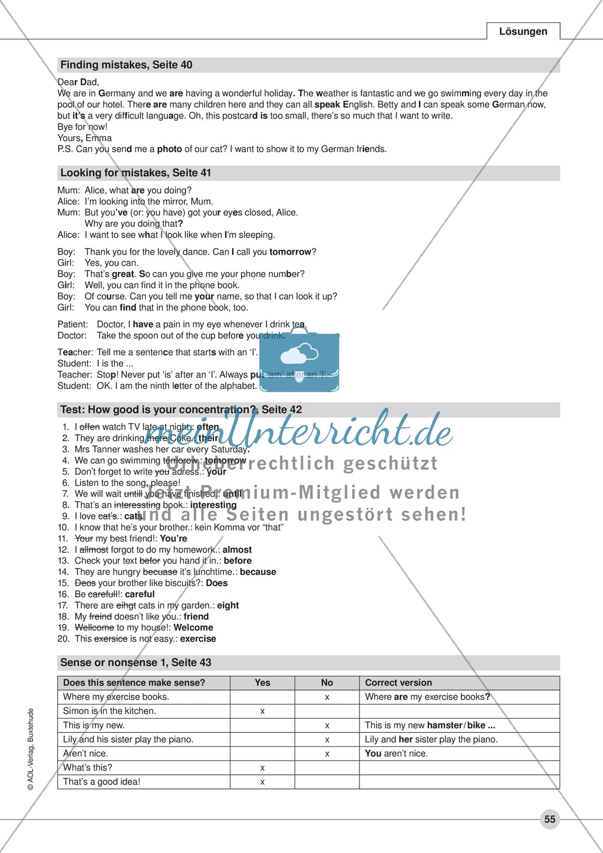 Check your text - methods: Arbeitsblätter und Lösungen - meinUnterricht