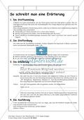 Erörterung schreiben: Übersicht zum Ausfüllen, Lösungsblatt und Satzbausteine Preview 1