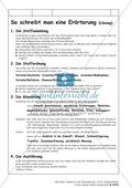 Erörterung schreiben: Übersicht zum Ausfüllen, Lösungsblatt und Satzbausteine Preview 2