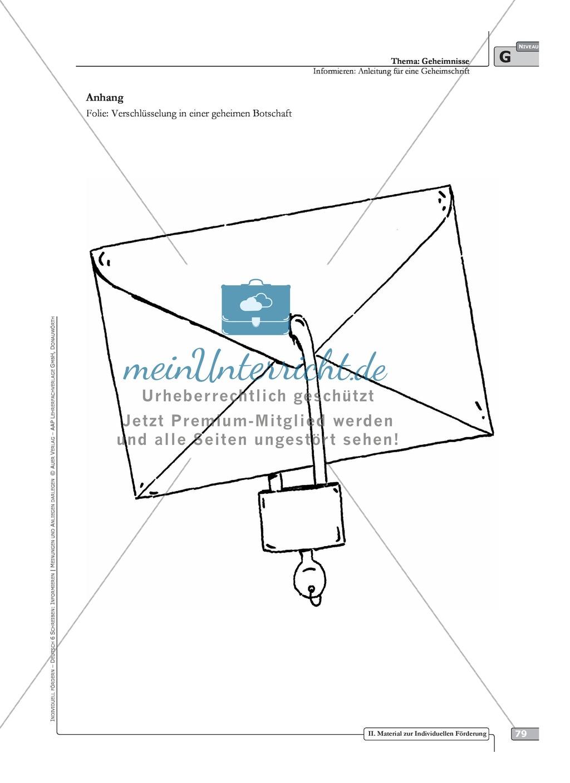 Schreibförderung: Geheimnisse: Anleitung für eine Geheimschrift: Hinweise zum Ablauf,  Arbeitsblätter Preview 1