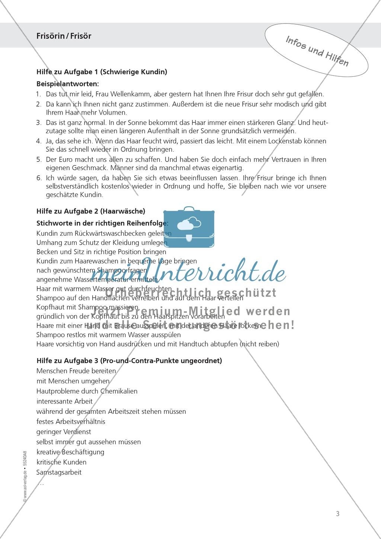 Berufsalltag - Frisör / in: