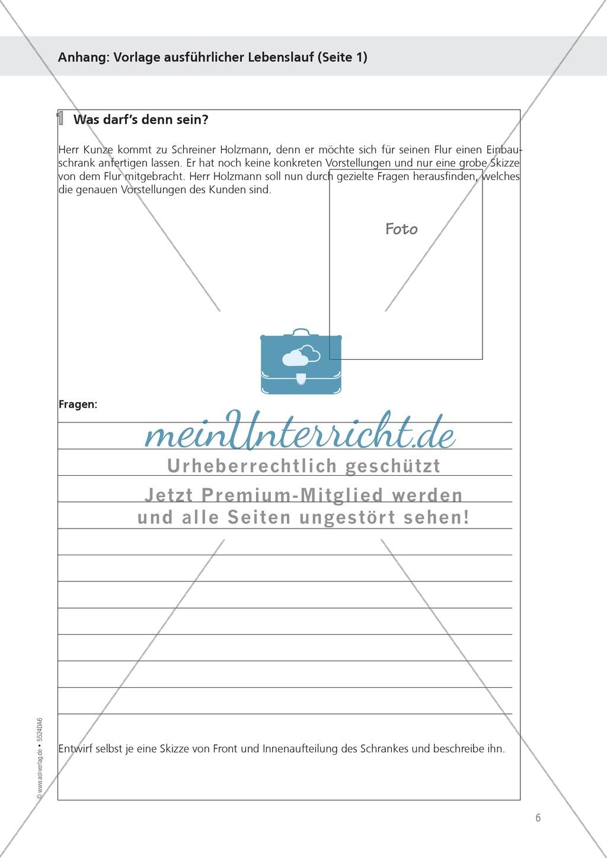 Berufe - Buchhändler / in: Bewerbung verfassen und Vorstellungsgespräch - Aufgaben + Muster + Hilfe Preview 2