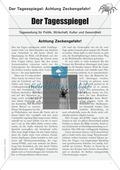 Zeitungsartikel verstehen: Text + Übungen + Lösungen schwer Preview 1