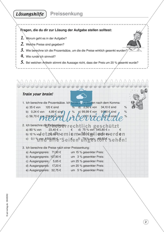 Mathe im Alltag - Preise vergleich: Übungen + Lösung - meinUnterricht