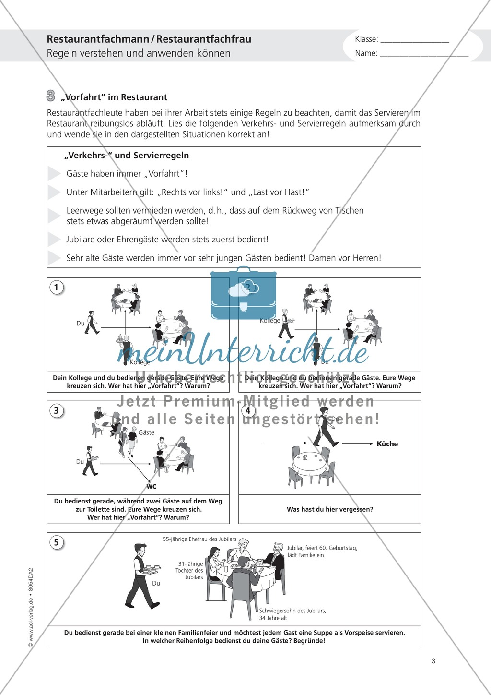 Deutsch-Aufgaben aus dem Alltag - Arbeiten im Restaurant: Übungen und Lösung Preview 2
