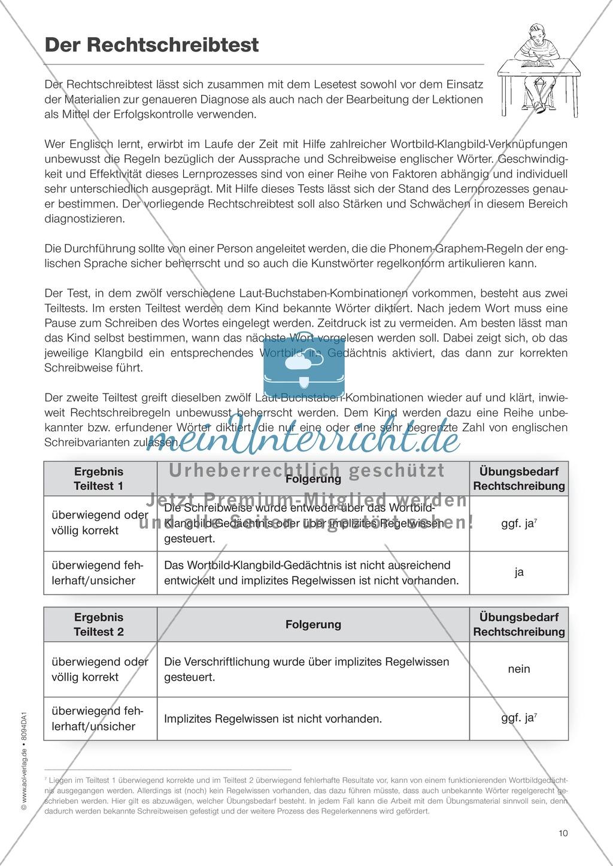 Diphthonge und Konsonanten: Der Rechtschreibtest: Arbeitsbätter und Wortliste Preview 1
