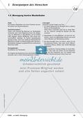 Die Bewegung des Menschen: Lehrerübersicht, Schülermaterial, didaktische Konzeption, Test Preview 10