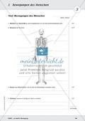 Die Bewegung des Menschen: Lehrerübersicht, Schülermaterial, didaktische Konzeption, Test Preview 18