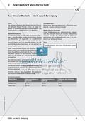 Die Bewegung des Menschen: Lehrerübersicht, Schülermaterial, didaktische Konzeption, Test Preview 8