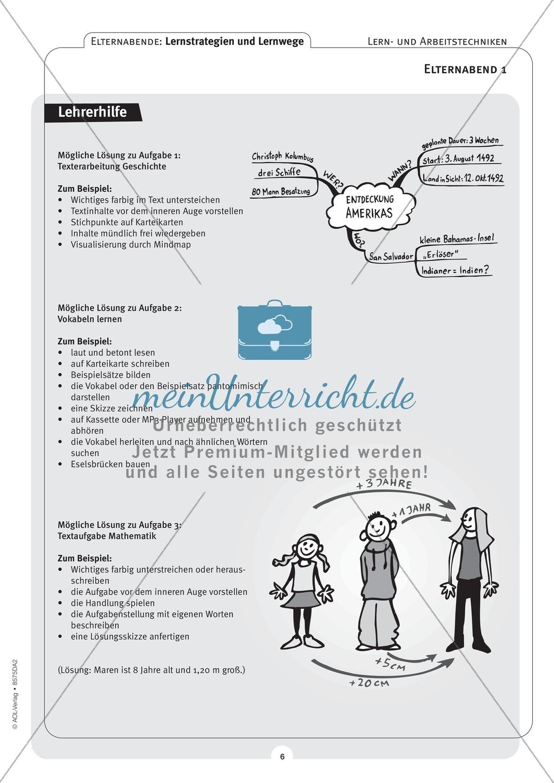 Methodik - Lernstrategien und Lernwege auf Elternabenden vermitteln: Lehrerhandreichung Preview 5
