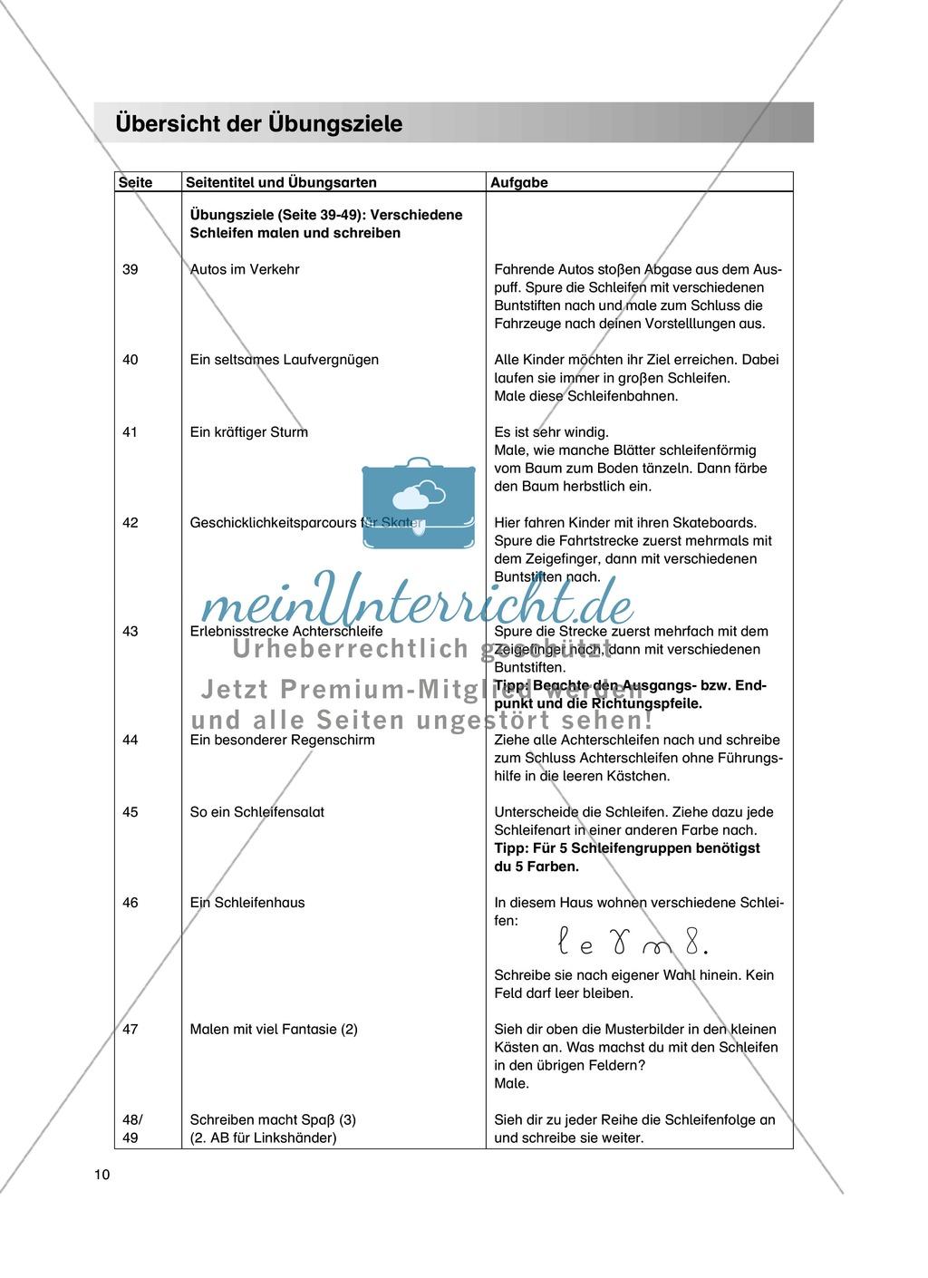 """Feinmotorik und Wahrnehmung: """"Schleifen malen und schreiben"""" - Arbeitsblätter + Übungen Preview 4"""