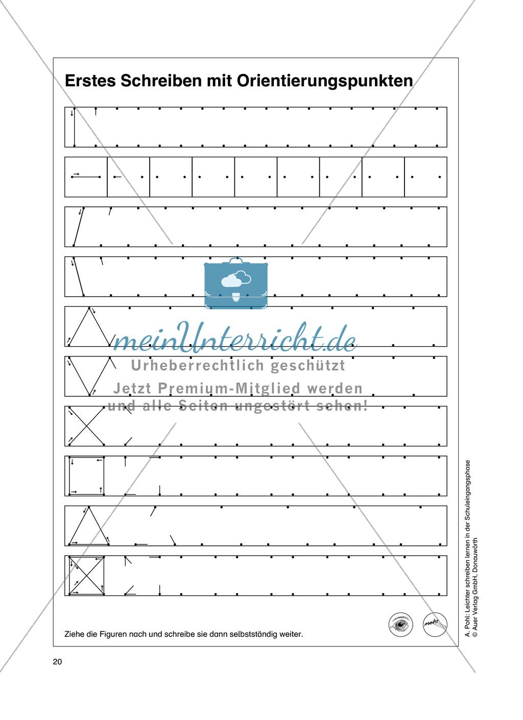 """Feinmotorik und Wahrnehmung: """"Waagrechte - Senkrechte -Schräge Linien malen und schreiben"""" - Arbeitsblätter +Übungen Preview 11"""