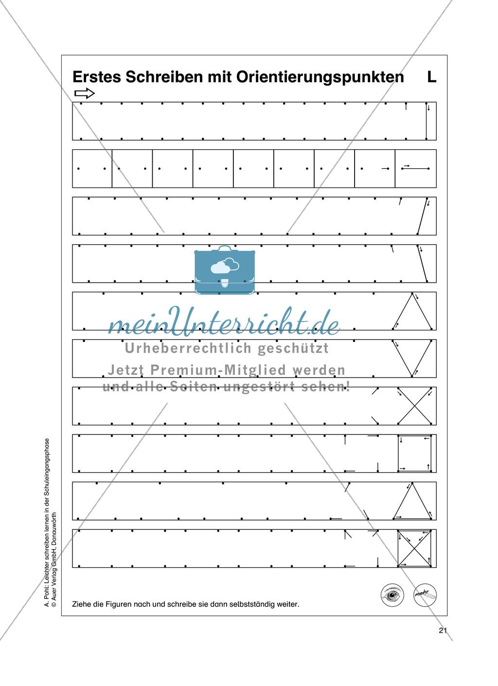 """Feinmotorik und Wahrnehmung: """"Waagrechte - Senkrechte -Schräge Linien malen und schreiben"""" - Arbeitsblätter +Übungen Preview 12"""