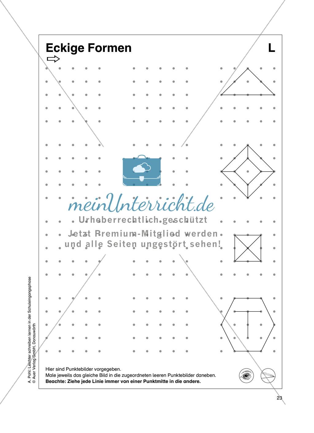 """Feinmotorik und Wahrnehmung: """"Waagrechte - Senkrechte -Schräge Linien malen und schreiben"""" - Arbeitsblätter +Übungen Preview 14"""