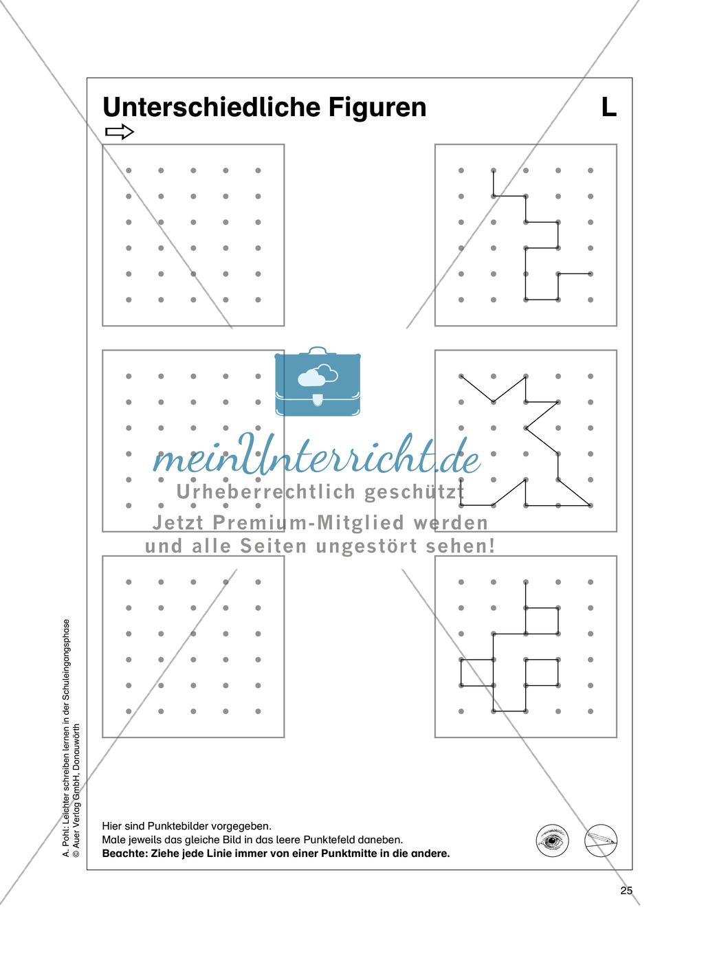 """Feinmotorik und Wahrnehmung: """"Waagrechte - Senkrechte -Schräge Linien malen und schreiben"""" - Arbeitsblätter +Übungen Preview 16"""