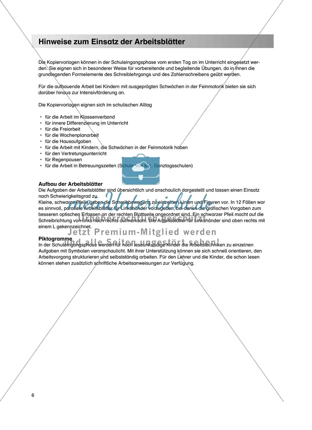 """Feinmotorik und Wahrnehmung: """"Waagrechte - Senkrechte -Schräge Linien malen und schreiben"""" - Arbeitsblätter +Übungen Preview 2"""