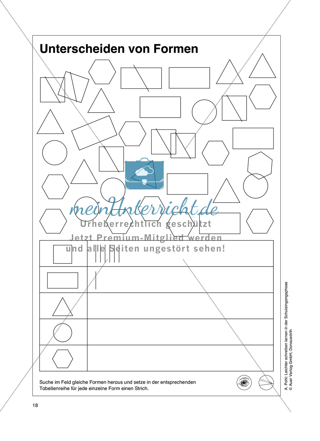 """Feinmotorik und Wahrnehmung: """"Waagrechte - Senkrechte -Schräge Linien malen und schreiben"""" - Arbeitsblätter +Übungen Preview 9"""