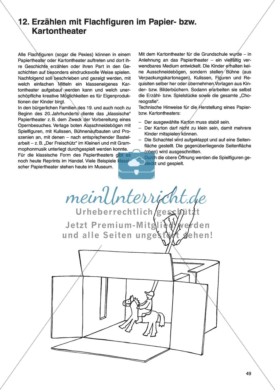 Erzählen mit Flachfiguren im Papier- bzw. Kartontheater: Unterrichtsidee Preview 0