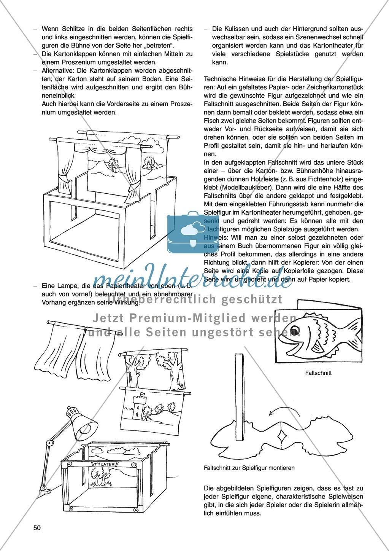 Erzählen mit Flachfiguren im Papier- bzw. Kartontheater: Unterrichtsidee Preview 1