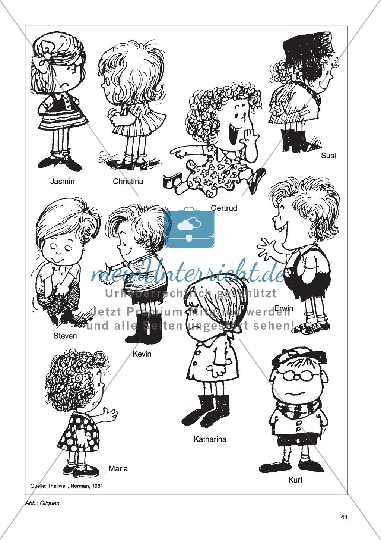 Die Cliquen (Kindergruppen von Gleichaltrigen): Unterrichtsidee Preview 1