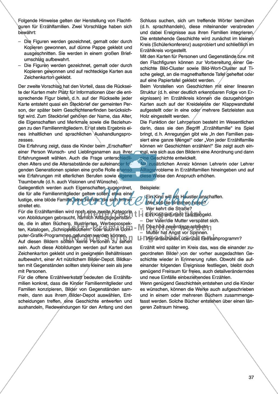 Die Erzählfamilien: Unterrichtsidee Preview 2