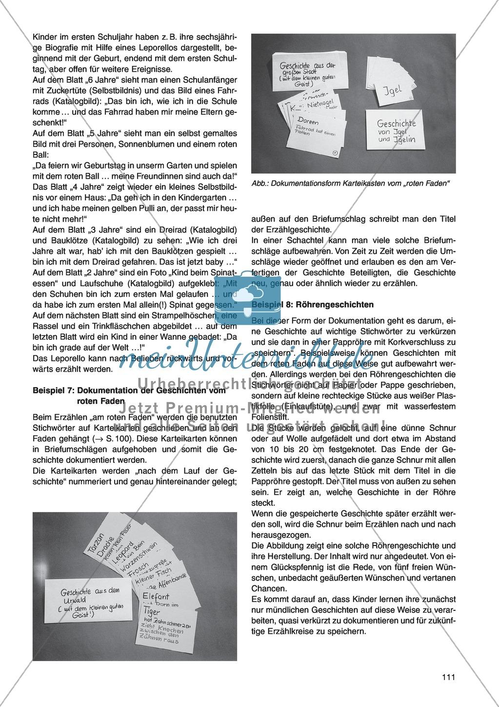 Geeignete Dokumentationsformen für das mündliche Erzählen: Unterrichtsidee Preview 4