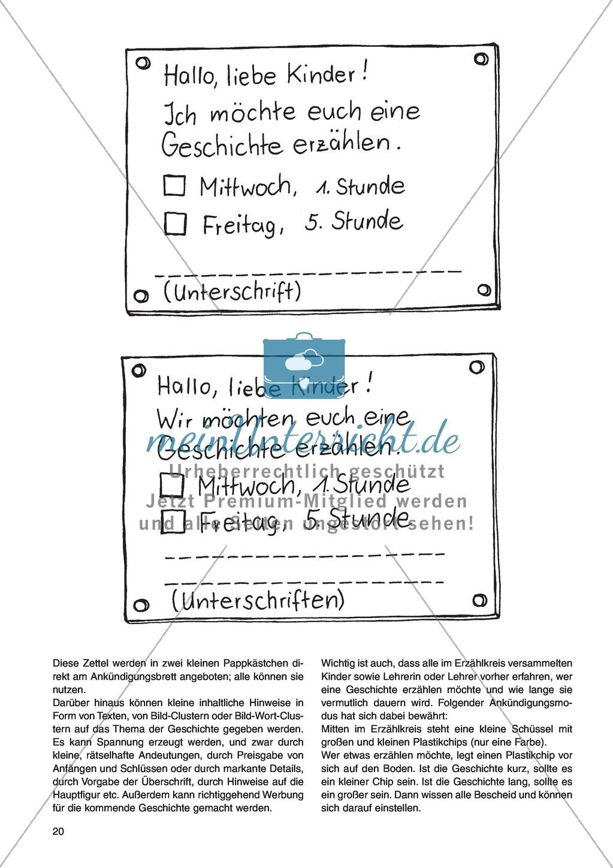 Erzähl mal was! Erzählkompetenzen in der Grundschule - kreative Unterrichtsideen: Material komplett Preview 15