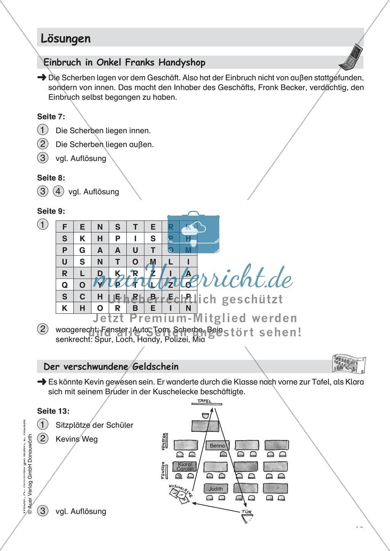 Leseförderung Einbruch in Onkel Franks Handyshop: Text, Arbeitsblätter und Lösungen Preview 5