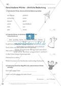 Lesekompetenz: Synonyme: Wörter mit ähnlicher Bedeutung finden: Arbeitsblätter und Lösungen Preview 5