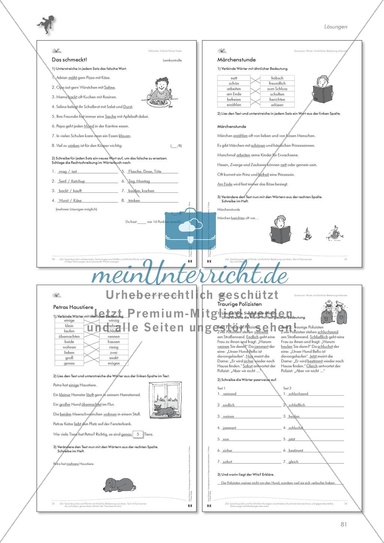Unterrichtsmaterial und Arbeitsblätter für Lehrer in Deutsch