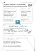 Lesekompetenz: Formulieren: Sätze bilden, Unterschiede erkennen: Arbeitsblätter und Lösungen Preview 5