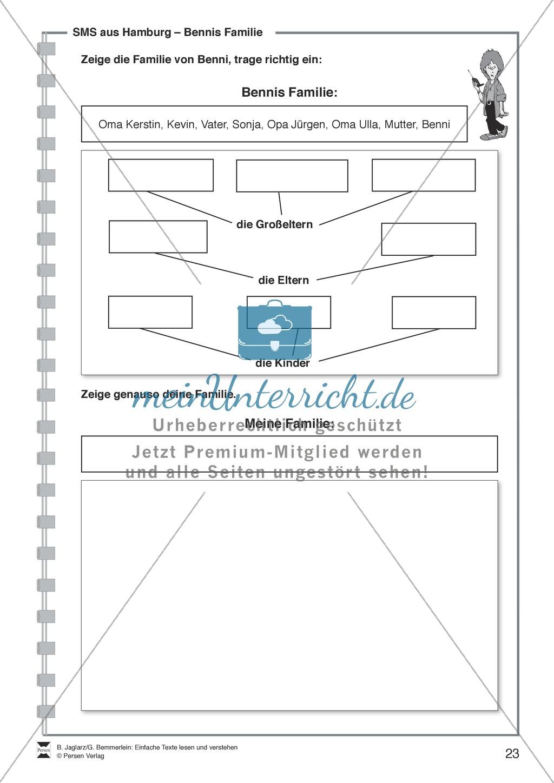 SMS aus Hamburg: Lesetext, Arbeitsblätter und Lösungen Preview 5