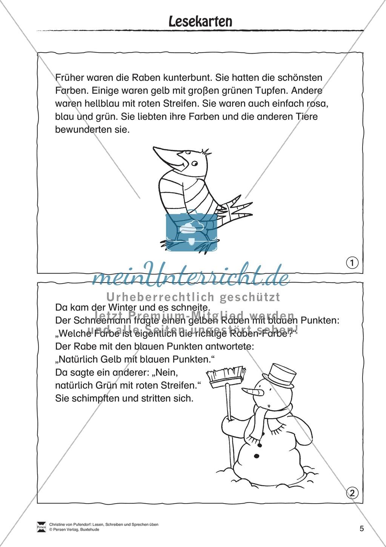 """Leseförderung: """"Als die Raben (...)"""" Lesekarten Preview 2"""