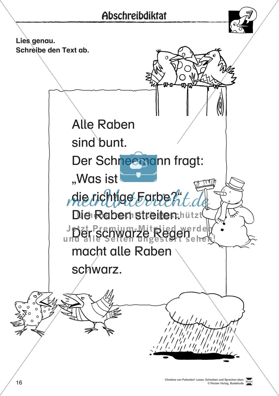 """Lesen - Schreiben - Sprechen: """" Als die Raben (...) """" Lesekarten + Arbeitsblätter zur Sprachförderung Preview 13"""