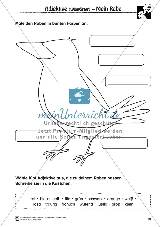"""Lesen - Schreiben - Sprechen: """" Als die Raben (...) """" Lesekarten + Arbeitsblätter zur Sprachförderung Preview 16"""