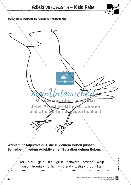 """Lesen - Schreiben - Sprechen: """" Als die Raben (...) """" Lesekarten + Arbeitsblätter zur Sprachförderung Preview 17"""