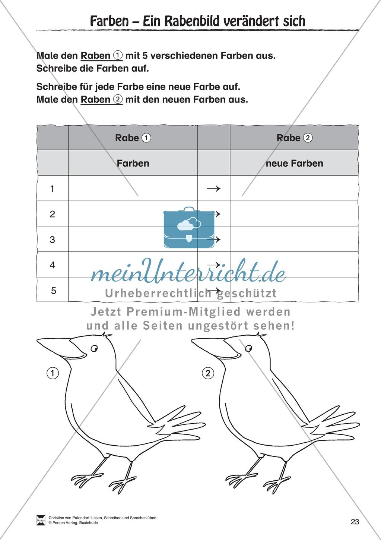 """Lesen - Schreiben - Sprechen: """" Als die Raben (...) """" Lesekarten + Arbeitsblätter zur Sprachförderung Preview 20"""