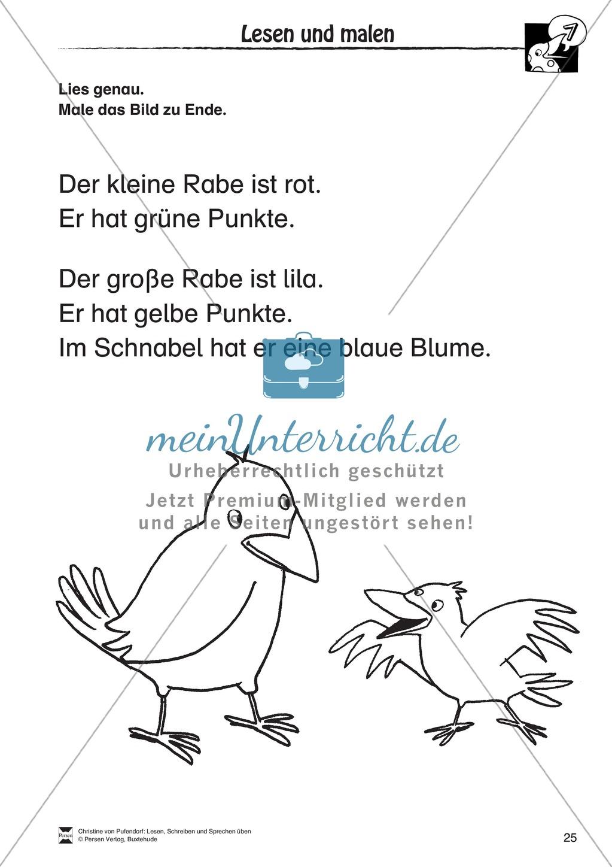"""Lesen - Schreiben - Sprechen: """" Als die Raben (...) """" Lesekarten + Arbeitsblätter zur Sprachförderung Preview 22"""