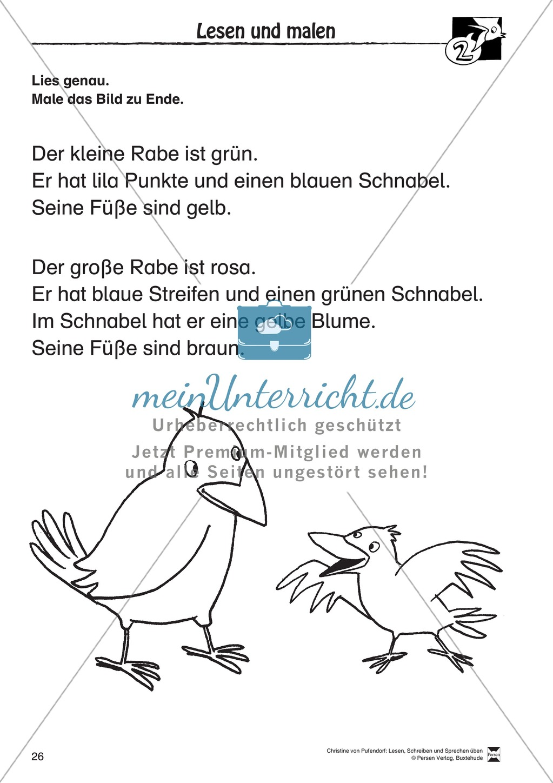 """Lesen - Schreiben - Sprechen: """" Als die Raben (...) """" Lesekarten + Arbeitsblätter zur Sprachförderung Preview 23"""